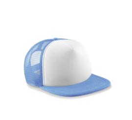 Vintage Trucker Cap - Sky Blue & White