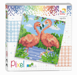 Pixel set - Flamingo