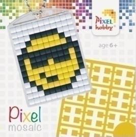 Pixel sleutelhanger - Smiley