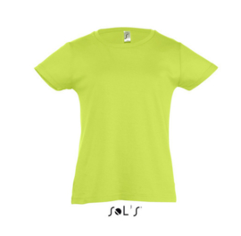 Girls T-shirt - Apple Green