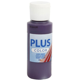 Plus Color acrylverf - Aubergine / 60 ml