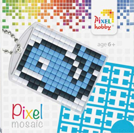 Pixel sleutelhanger - Walvis