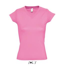 Women T-shirt V-hals - Orchid Pink