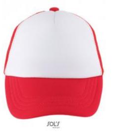 Bubble Kids Cap - White/Red