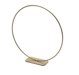 Metalen Ring GOUD op voet (30cm)