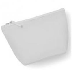 Canvas Accessory Bag - Light Grey - S