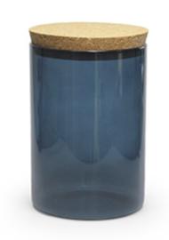 Bokaal SILVER BLUE 700ml met deksel kurk