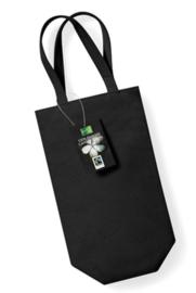 Cotton Bottle Bag - Black (fairtrade)