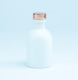 Luxe flesje Wit - Rosé Dop 50ml