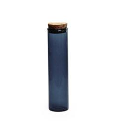 Glazen SILVER BLUE tube met deksel kurk