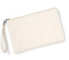 Canvas Wristlet - Natural/Natural