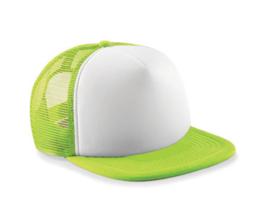 Vintage Trucker Cap - Lime Green & White