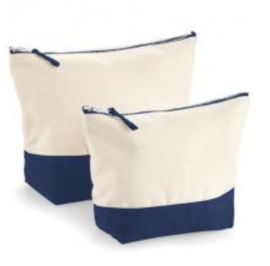Dipped Accessory Bag - Natural/Navy - L
