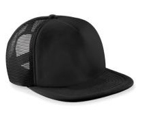 Vintage Trucker Cap - Black & Black