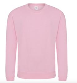 Kids AWDis Sweater - Baby Pink