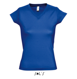 Women T-shirt V-hals - Royal Blue