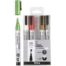 Chalk Markers, set metallic kleuren