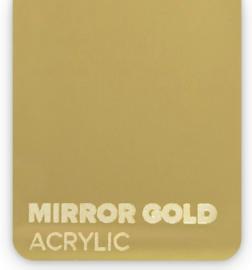 Acrylic Mirror Gold 3mm (21x30cm)