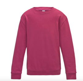 Kids AWDis Sweater - Hot Pink