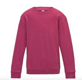 Kids AWDis Sweater - Hot Pink