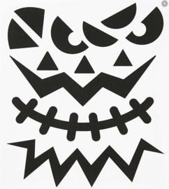 Halloween - Stickers Grote Pompoen Gezichten