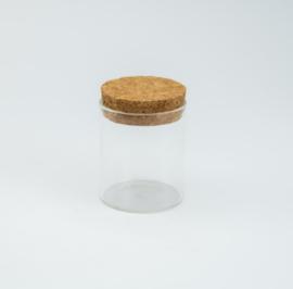 Potje cylinder klein met kurkstop