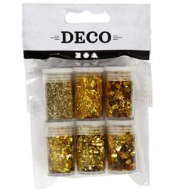 Metallic Glitter - Goud (6x 5gr)