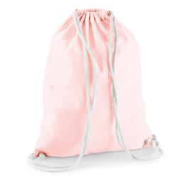 Turnzak katoen - Pastel Pink/White