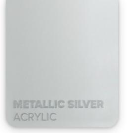 Acrylic Metallic Silver 3mm (21x30cm)