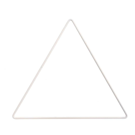 Metal Triangle, White, 20cm