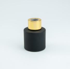 Parfumflesje Cylinder Black met gouden schroefdop - 50ml