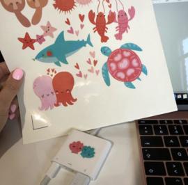 Voordeelpakket Wit GLOSSY Stickervel Inkjet - 10xA4