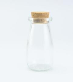 Flesje cylinder met kurkstop