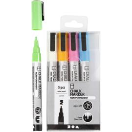 Chalk Markers, set sterke kleuren