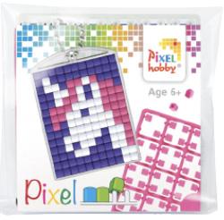 Pixel sleutelhanger - Eenhoorn Roze