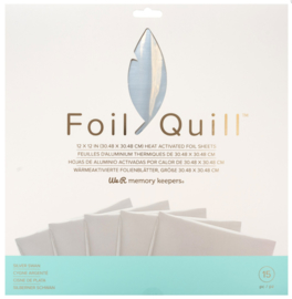 """Foil Quill Foil Sheets - Silver Swan 12x12"""""""