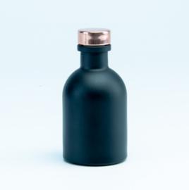Luxe flesje Zwart - Rosé Dop 50ml