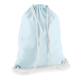 Turnzak katoen - Pastel Blue/White
