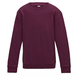 Kids AWDis Sweater - Burgundy