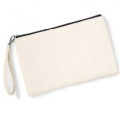 Canvas Wristlet - Natural/Black