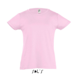 Girls T-shirt - Medium Pink