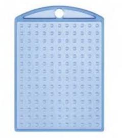 Medaillon pixelhobby transparant blauw + kettinkje