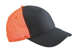 Retro Mesh Cap - Black / Neon Orange