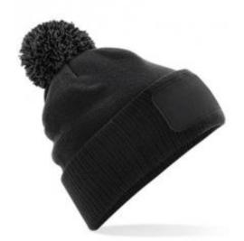 Snowstar Patch Beanie - Black/Graphite Grey