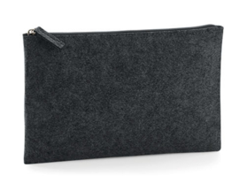 Felt Accessory Pouch - Charcoal Melange (one size)