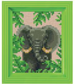 Pixel geschenkverpakking - Jungle olifant