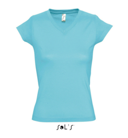 Women T-shirt V-hals - Atoll Blue