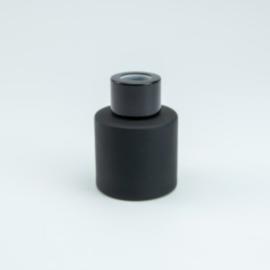 Parfumflesje Cylinder Black met zwarte schroefdop - 50ml