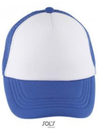 Bubble Kids Cap - White/Royal Blue
