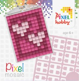 Pixel sleutelhanger - Hartjes